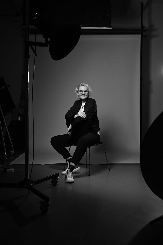 Sandra Volz im Fotostudio